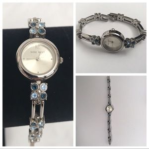 Blue Rhinestone Watch